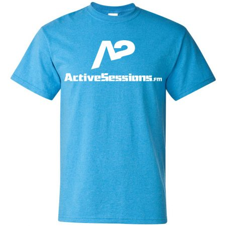 heathered saphire active sessions FM tee